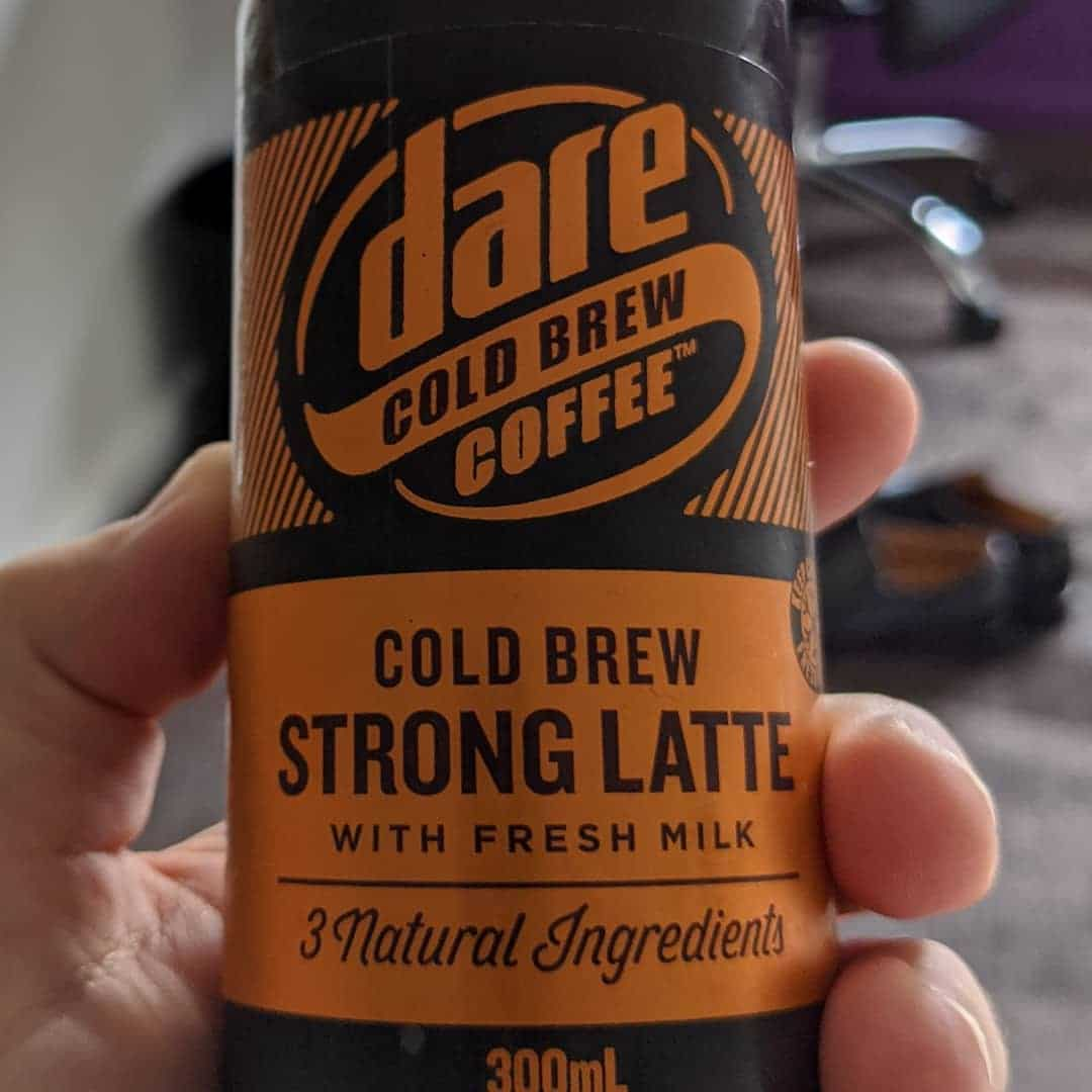 """Dare triple espresso is my go-to when in need some bottled coffee so I was curious to try this """"cold brew"""" variant I found in Sydney. It's quite a different experience; nowhere near as sweet as the standard varieties, although I'm not sure that's what I'm looking for when I head to the deli fridge. Will definitely try again if it hits Perth, though  @dareicedcoffee ."""
